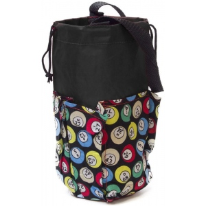 Casino Supply 6 Pocket Mini Bingo Ball Designer Bag: Black
