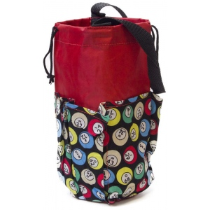 Casino Supply 6 Pocket Mini Bingo Ball Designer Bag: Red