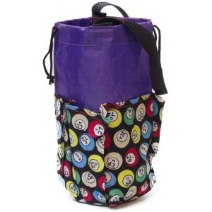 Casino Supply 6 Pocket Mini Bingo Ball Designer Bag: Purple