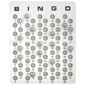 Casino Supply Bingo Masterboard for Ping Pong Size Balls