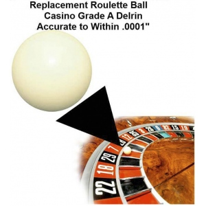 Casino Supply Roulette Ball (Pill): 5/8 Inch, 25 to 27 Inch Wheels
