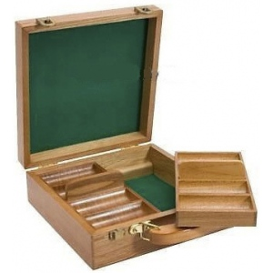 Casino Supply Oak 200 Chip Poker Case 1