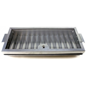 Casino Supply Professional Metal Casino Poker Chip Tray & Locking Cover: 12 Row / 720 Chip