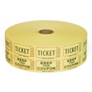 Casino Supply Raffle Tickets: Blue, 2000 Double Stub Raffle Tickets