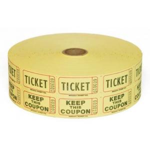 Casino Supply Raffle Tickets: Blue, 2000 Double Stub Raffle Tickets