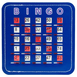 Casino Supply Senior Friendly Bingo Shutter Cards: Quick Clear Stitched Blue