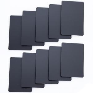 Set of 10 Black Plastic Bridge Size Cut Cards