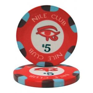 $5 Nile Club 10 Gram Ceramic Poker Chip