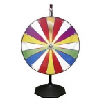 Casino Supply Color Prize Wheel with Stand & Base: 24""