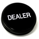 Casino Supply 3 Inch Dealer Puck Engraved: Casino Quality