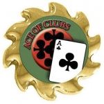 Casino Supply Ace of Clubs Poker Card Guard Spinner