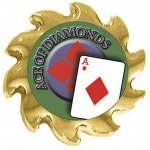 Casino Supply Ace of Diamonds Poker Card Guard Spinner