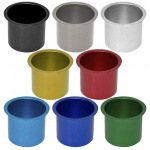 Casino Supply Colored Aluminum Jumbo Drop in Drink Holders: Grey