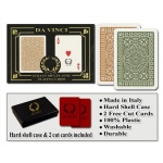 Casino Supply Da Vinci Casino Club Playing Cards: Brown/Green, Narrow Regular Index