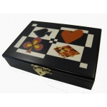 Casino Supply Designer Playing Card Case: Satin Black