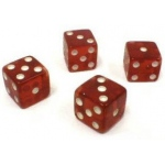 Casino Supply Dice Tops and Bottoms: Transparent Red, Missouts, 1,3,5 & 2,4,6