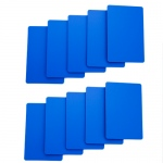 Set of 10 Blue Plastic Bridge Size Cut Cards