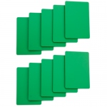 Set of 10 Green Plastic Bridge Size Cut Cards