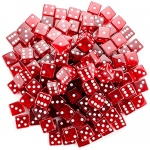100 Red Dice - 19 mm