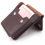 Copag 4 Color Regular Index deck - Red in leather case