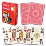 Modiano Cristallo Poker Size, 4 PIP Jumbo Red