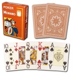 Modiano Cristallo Poker Size, 4 PIP Jumbo Brown