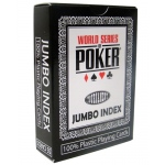 Modiano WSOP Plastic Playing Cards - Black Deck