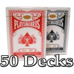 50 Decks Brybelly Playing Cards (Wide Size, Standard Index)