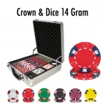 500 Ct - Pre-Packaged - Crown & Dice 14 Gram - Claysmith