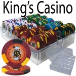 200 Ct - Pre-Packaged - Kings Casino 14 G - Acrylic Tray