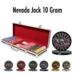 500 Ct - Pre-Packaged - Nevada Jack 10 G - Black Aluminum