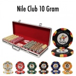 500 Ct - Pre-Packaged - Nile Club 10 G - Black Aluminum