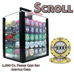 1000 Ct Standard Breakout Scroll Chip Set - Acrylic Case