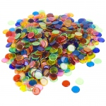 1000 Pack Mixed Colored Bingo Chips (7 Different Colors)