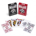 Modiano WSOP 2015 Plastic Playing Cards - Red/Black - Bridge