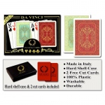 Casino Supply Da Vinci Persiano Red/Green Wide Jumbo Index Playing Cards